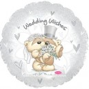 "115673 Wedding Wishes Bear Couple Balloons - 17"" <br><font color=#365f97>$1.75 each (5 pieces/pack)</font>"