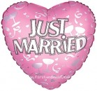"214010 Just Married Balloons - 17"" <br><font color=#365f97>$1.75 each (5 pieces/pack)</font>"