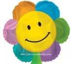 "414658 Smiley Flower Balloons - 17"" <br><font color=#365f97>$1.75 each (5 pieces/pack)</font>"
