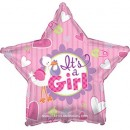 "814164 Its A Girl (Stork) Balloons - 17"" <br><font color=#365f97>$1.75 each (5 pieces/pack)</font>"