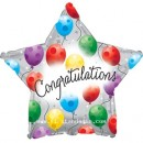 "814179 Congratulations Star Shaped Balloons - 17"" <br><font color=#365f97>$1.75 each (5 pieces/pack)</font>"