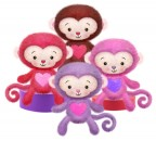 V9004 Minkee Monkeys - 7&quot;<br><font color=#365f97>$7.50 each (4 assorted pieces/pack)</font>