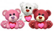 V1404 Buster Bears - 7&quot;<br><font color=#365f97>$7.75 each (3 assorted pieces/pack)</font>