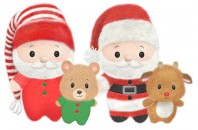 XS9644 Beddy Bye Santa<br><font color=#365f97>$8.75 each (2 assorted pieces/pack)</font>