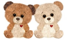 1215 Buttercup Bears<br><font color=#365f97>$10.25 each (2 assorted pieces/pack)</font>