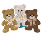 1754 Beary Sweet Bears - 7&quot; sitting<br><font color=#365f97>$7.25 each (3 assorted pieces/pack)</font>