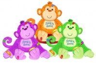 6354 Get Well Monkeys<br><font color=#365f97>$7.75 each (3 assorted pieces/pack)</font>