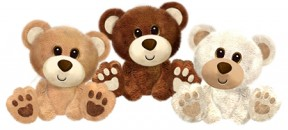 1404 Buster Bears - 7&quot;<br><font color=#365f97>$7.50 each (3 assorted pieces/pack)</font>