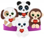 V1193 XO Cuties - 7&quot;<br><font color=#365f97>$8.00 each (4 assorted pieces/pack)</font>