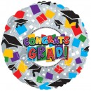 "114178 Graduation Hats and Confetti - 17"" <br><font color=#365f97>$1.75 each (5 pieces/pack)</font>"