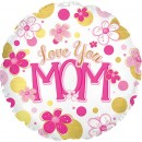 "114845 Love You Mom Balloons - 17"" <br><font color=#365f97>$1.75 each (5 pieces/pack)</font>"