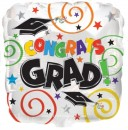 "414526 Graduation Congrats Grad Swirl - 17"" <br><font color=#365f97>$1.75 each (5 pieces/pack)</font>"
