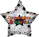 "814005 Graduation Black Stars - 17"" <br><font color=#365f97>$1.75 each (5 pieces/pack)</font>"