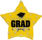 "814007 Congrats Grad Yellow - 17"" <br><font color=#365f97>$1.75 each (5 pieces/pack)</font>"