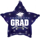 "814009 Congrats Grad Navy Blue Star - 17"" <br><font color=#365f97>$1.75 each (5 pieces/pack)</font>"