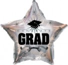 "814011 Congrats Grad Platinum Star - 17"" <br><font color=#365f97>$1.75 each (5 pieces/pack)</font>"