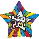 "814527 Graduation Stars in Stripes - 17"" <br><font color=#365f97>$1.75 each (5 pieces/pack)</font>"