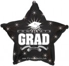"814619 Congrats Grad Black Star - 17"" <br><font color=#365f97>$1.75 each (5 pieces/pack)</font>"