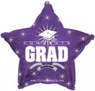 "814622 ongrats Grad Purple Star - 17"" <br><font color=#365f97>$1.75 each (5 pieces/pack)</font>"