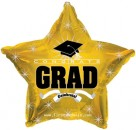 "814623 Congrats Grad Gold Star - 17"" <br><font color=#365f97>$1.75 each (5 pieces/pack)</font>"