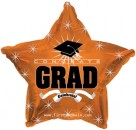 "814624 Congrats Grad Orange Star - 17"" <br><font color=#365f97>$1.75 each (5 pieces/pack)</font>"