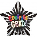 "814860 Graduation Congrats 3D Star - 17"" <br><font color=#365f97>$1.75 each (5 pieces/pack)</font>"