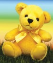 1584 Yellow Rainbow Bear<br><font color=#365f97>$3.75 each (3 pieces/pack)</font>